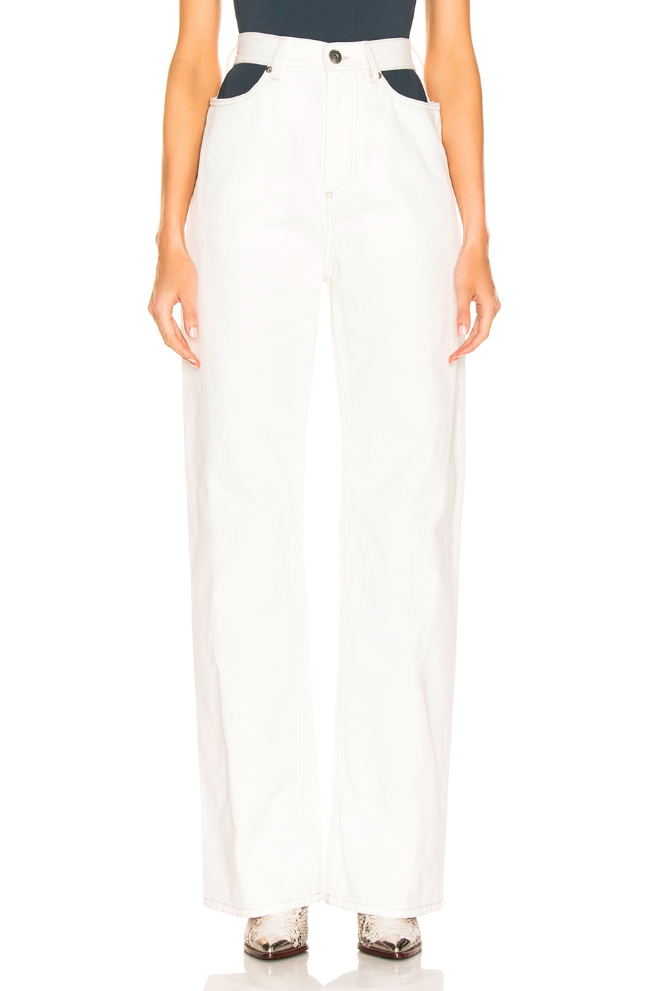 Image 1 of Maison Margiela Wide Leg Pant in Off White