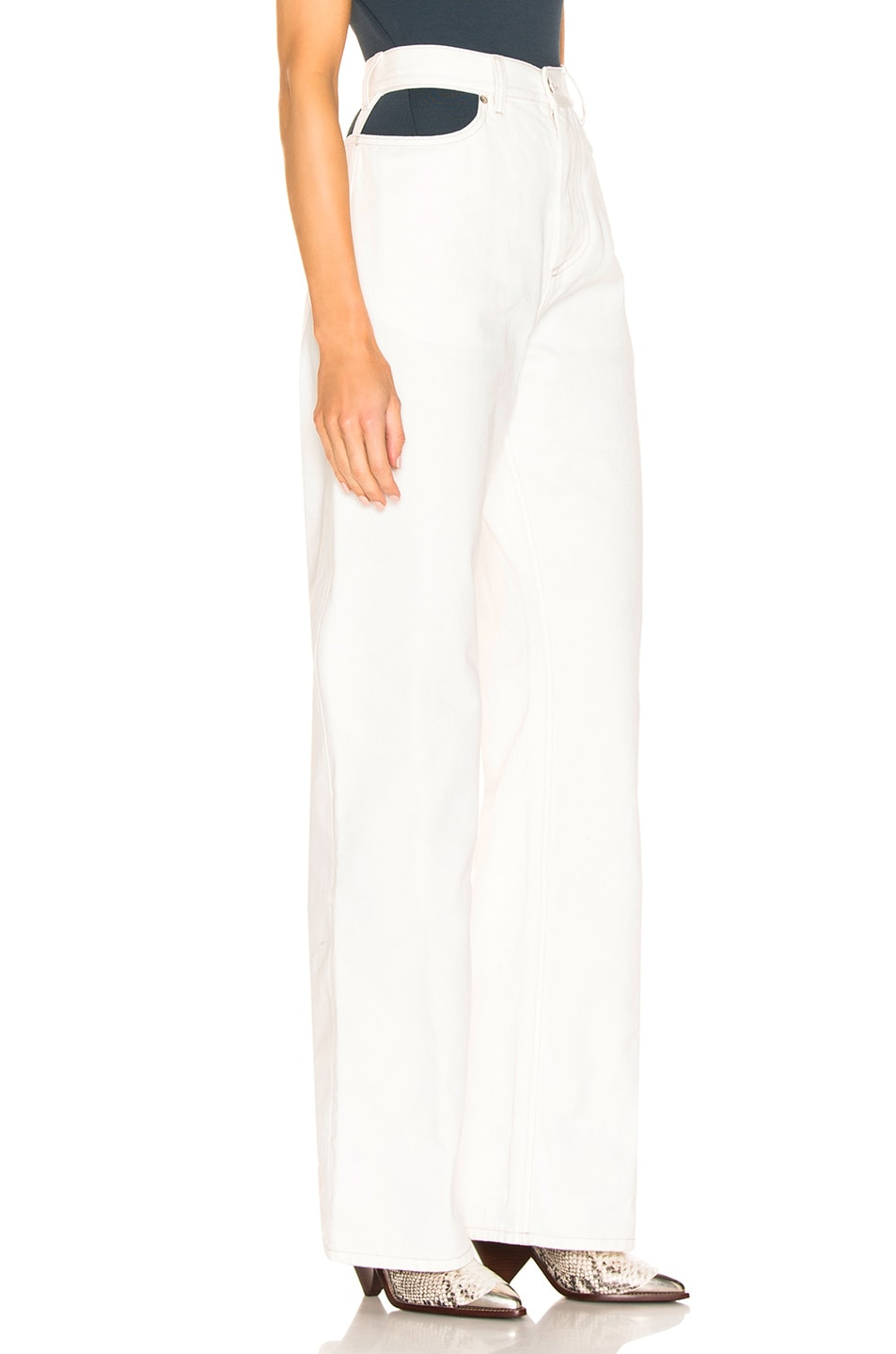 Image 2 of Maison Margiela Wide Leg Pant in Off White