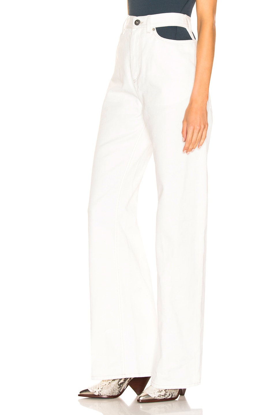 Image 3 of Maison Margiela Wide Leg Pant in Off White