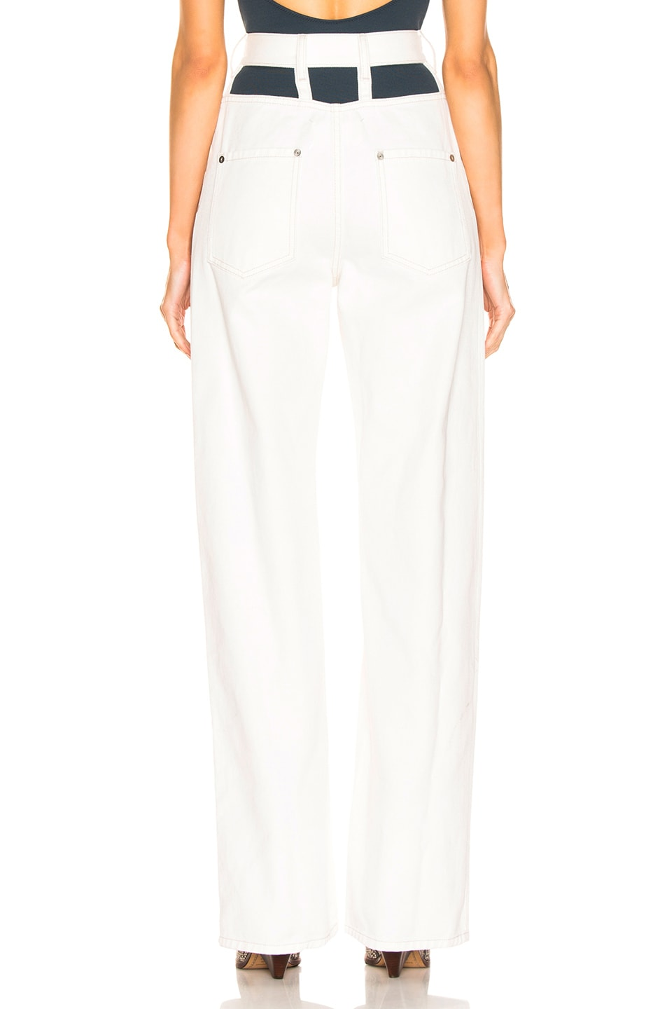 Image 4 of Maison Margiela Wide Leg Pant in Off White