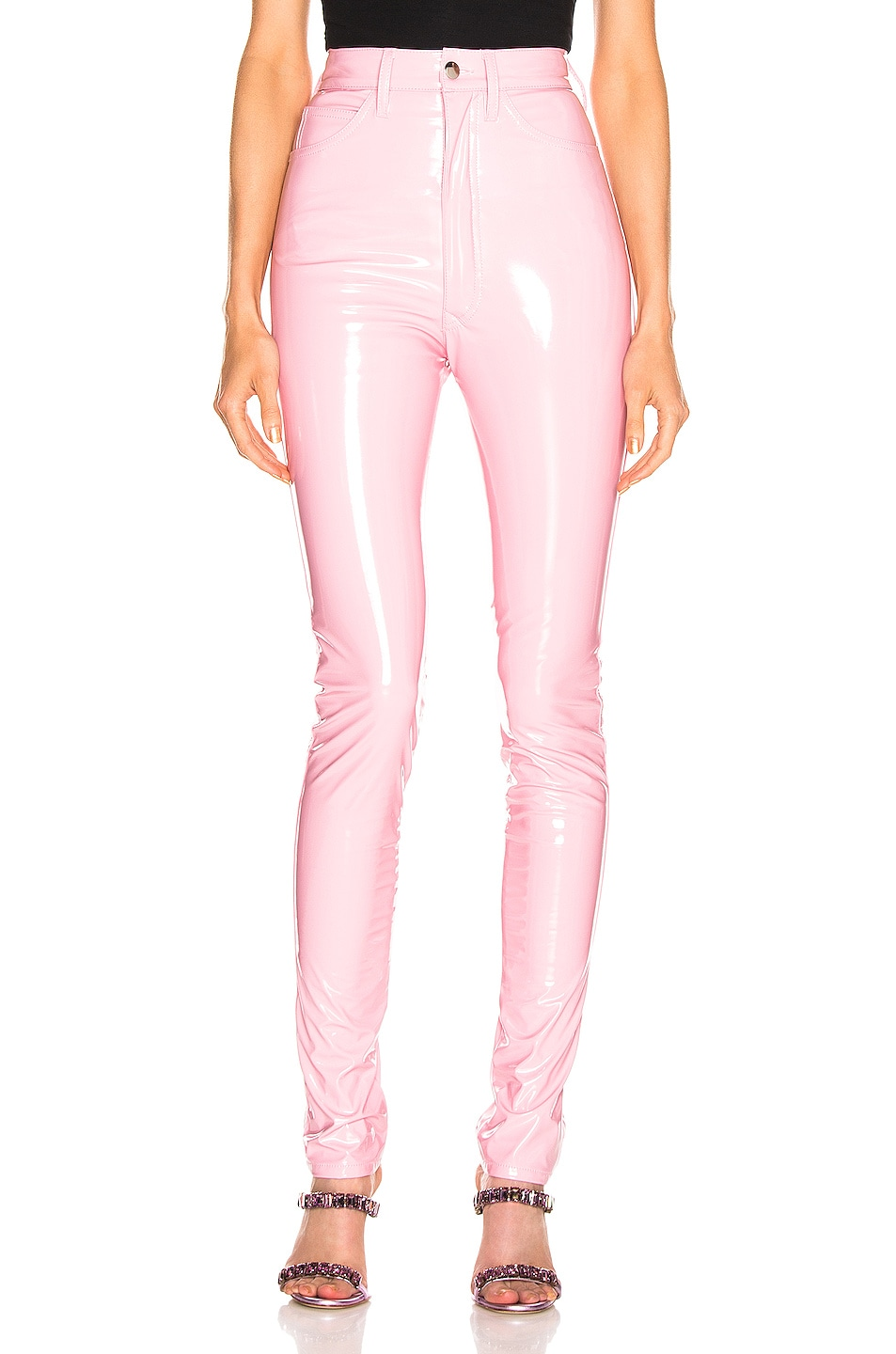 Image 1 of Maison Margiela Vinyl Pant in Pink