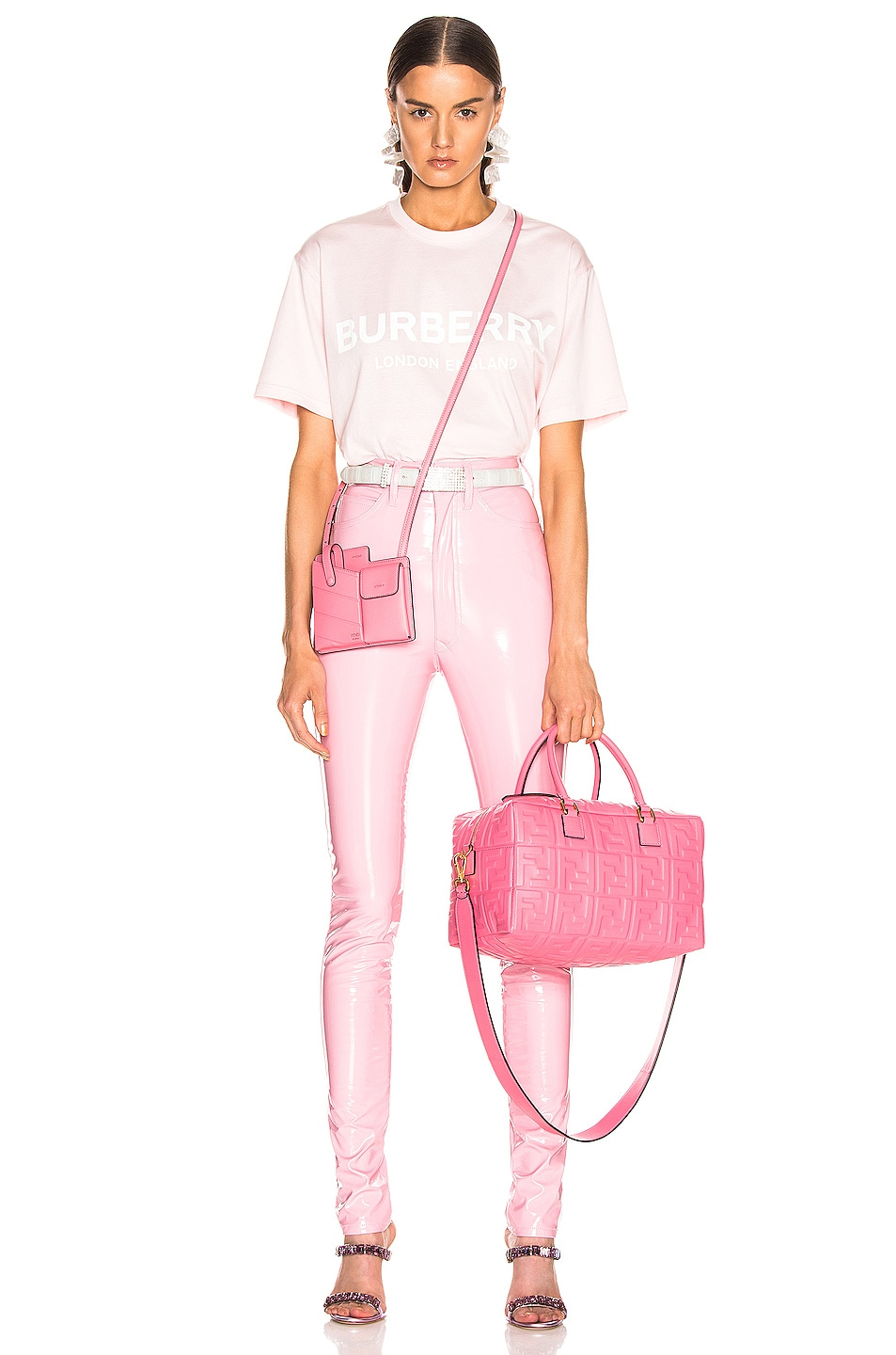 Image 4 of Maison Margiela Vinyl Pant in Pink