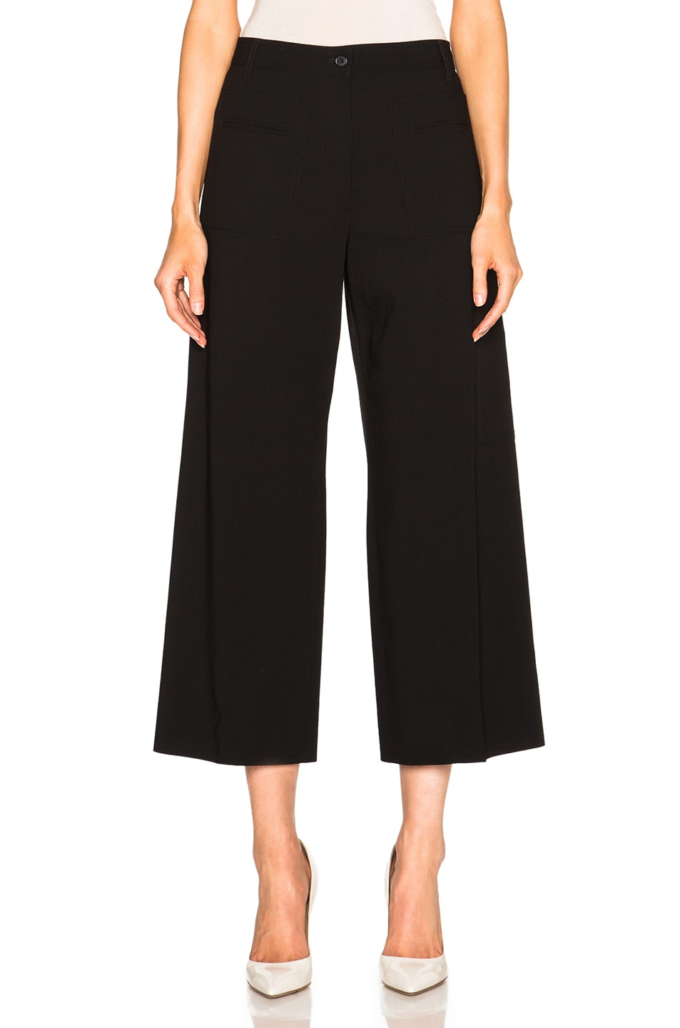 wide-leg trousers - Black Maison Martin Margiela