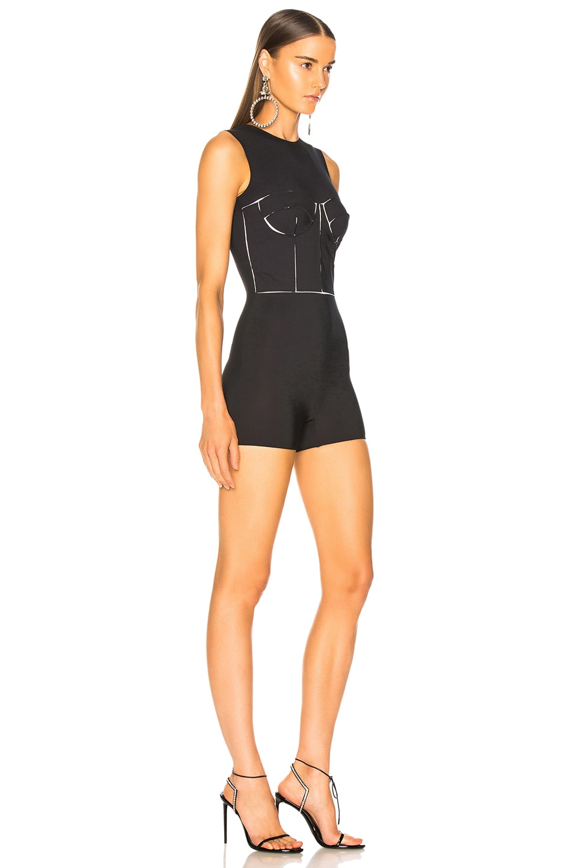 Image 3 of Maison Margiela Bodice Cutout Bodysuit in Black