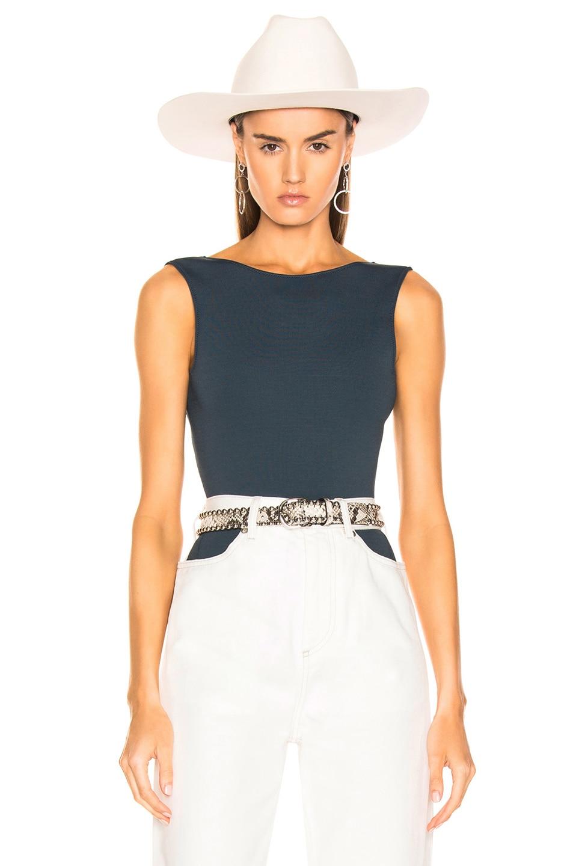 Image 1 of Maison Margiela Sleeveless Bodysuit in Blue Avion