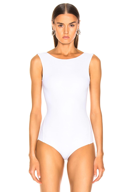 Image 2 of Maison Margiela Sleeveless Bodysuit in Optic White