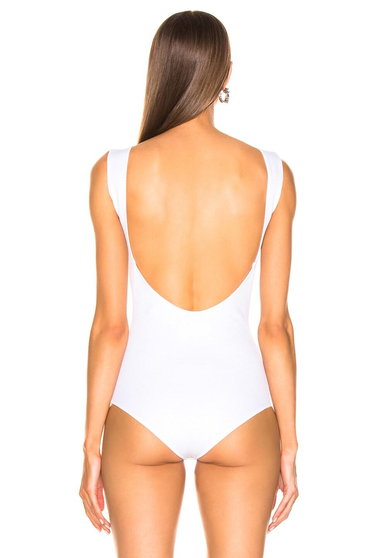 Image 4 of Maison Margiela Sleeveless Bodysuit in Optic White