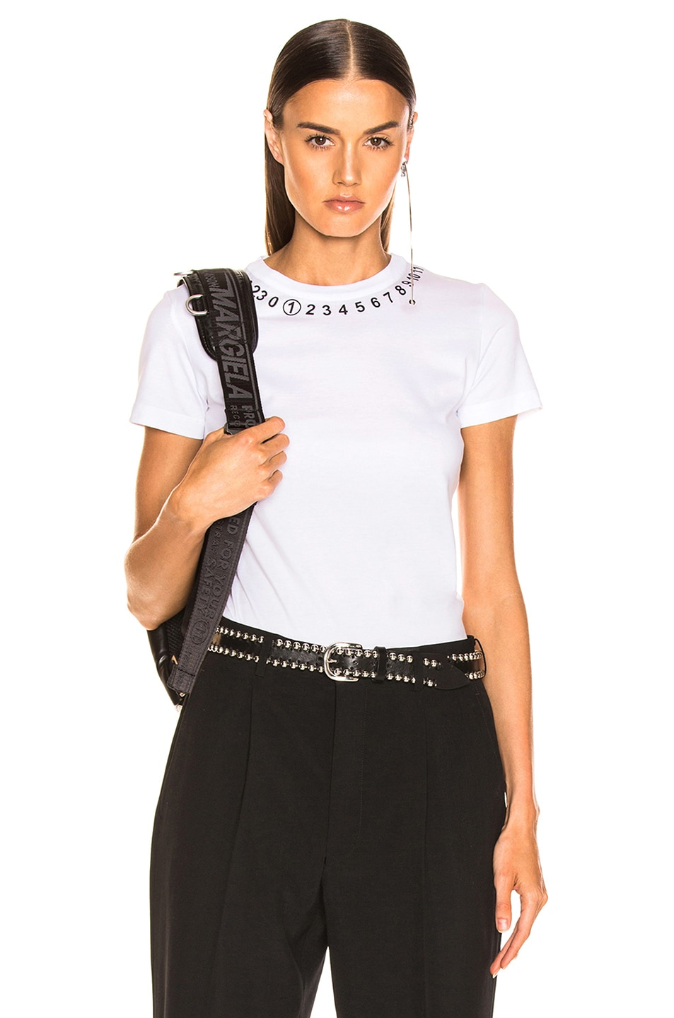 Image 1 of Maison Margiela Number Top in Optic White