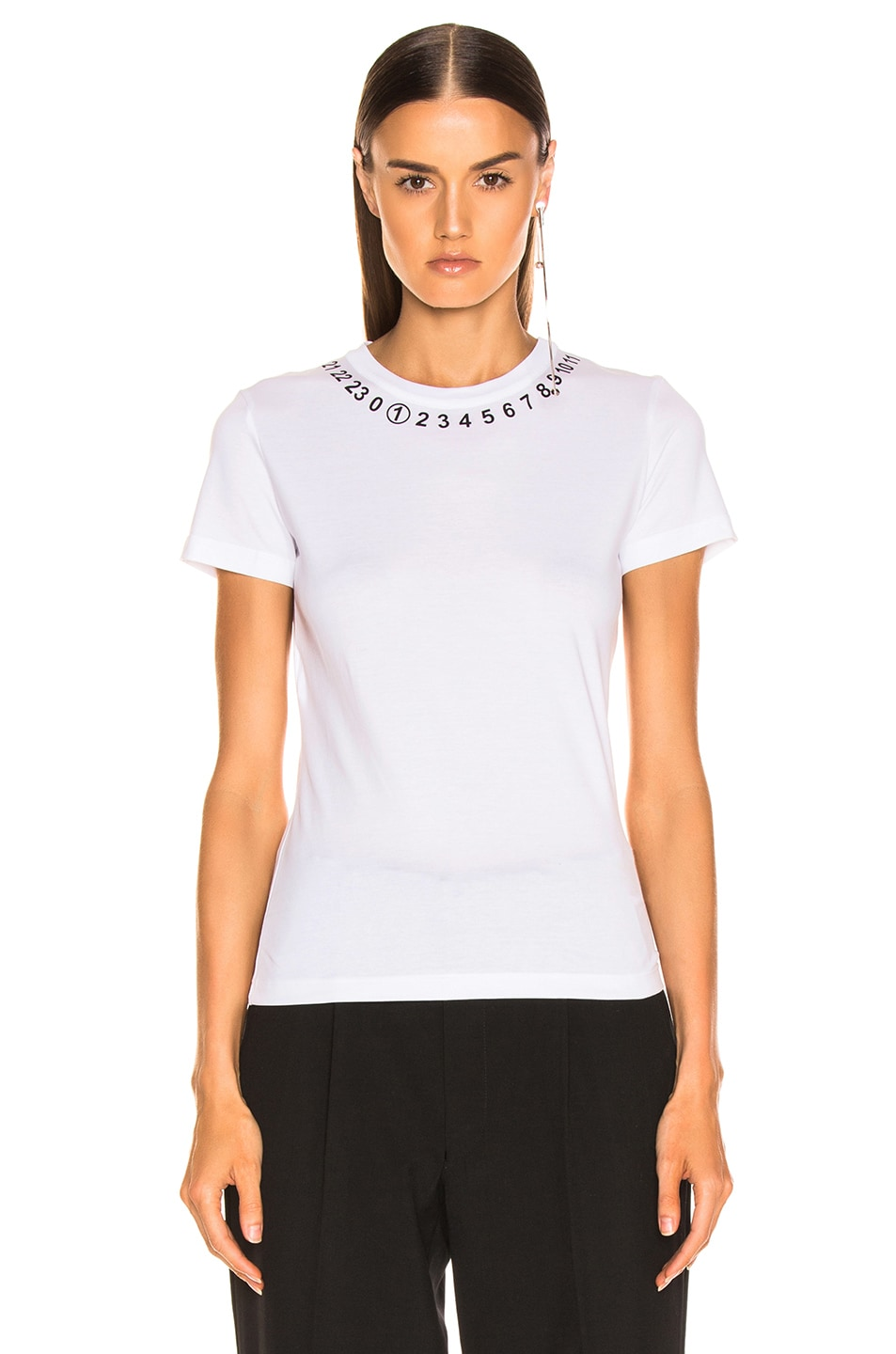 Image 2 of Maison Margiela Number Top in Optic White