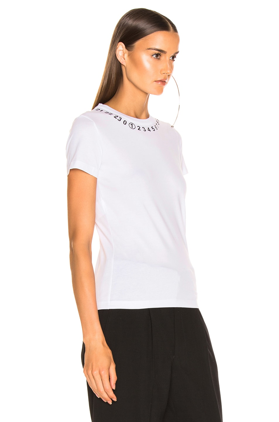 Image 3 of Maison Margiela Number Top in Optic White