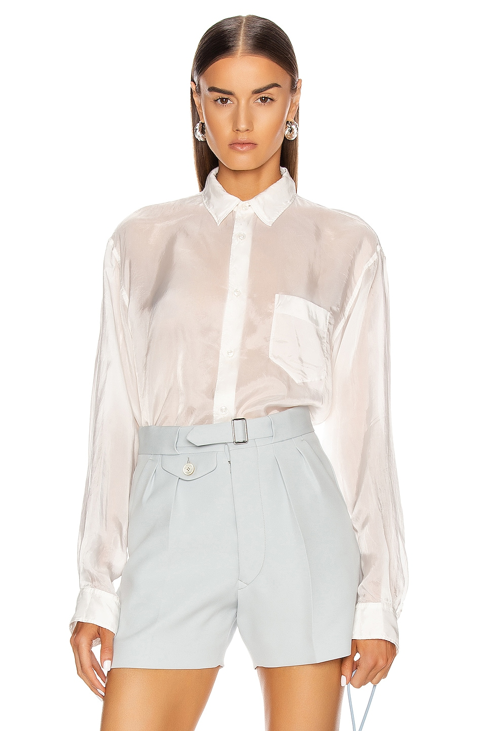 Image 1 of Maison Margiela Button Down Top in White