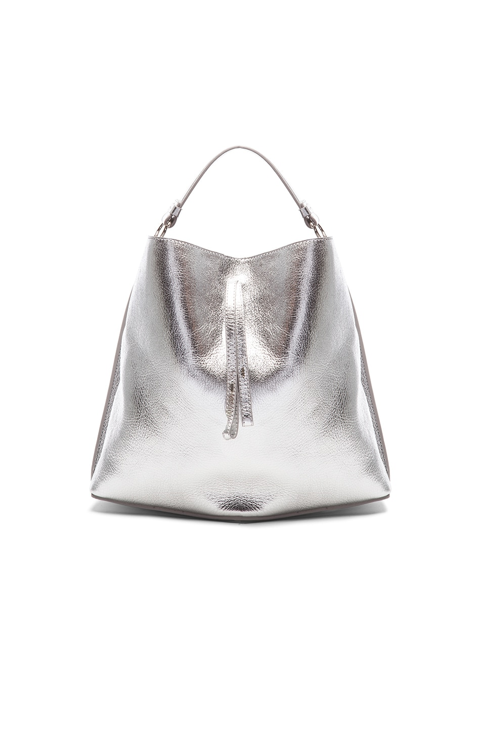 Image 1 of Maison Margiela Laminated Leather Bucket Bag in Silver