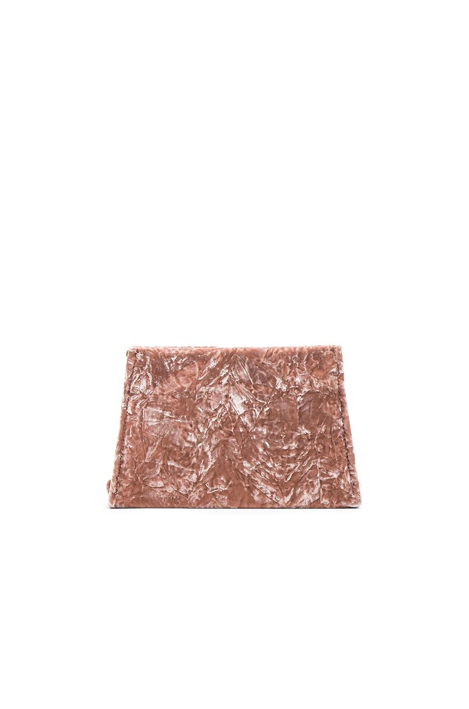 Image 2 of Maison Margiela Velvet Crossbody in Face Powder
