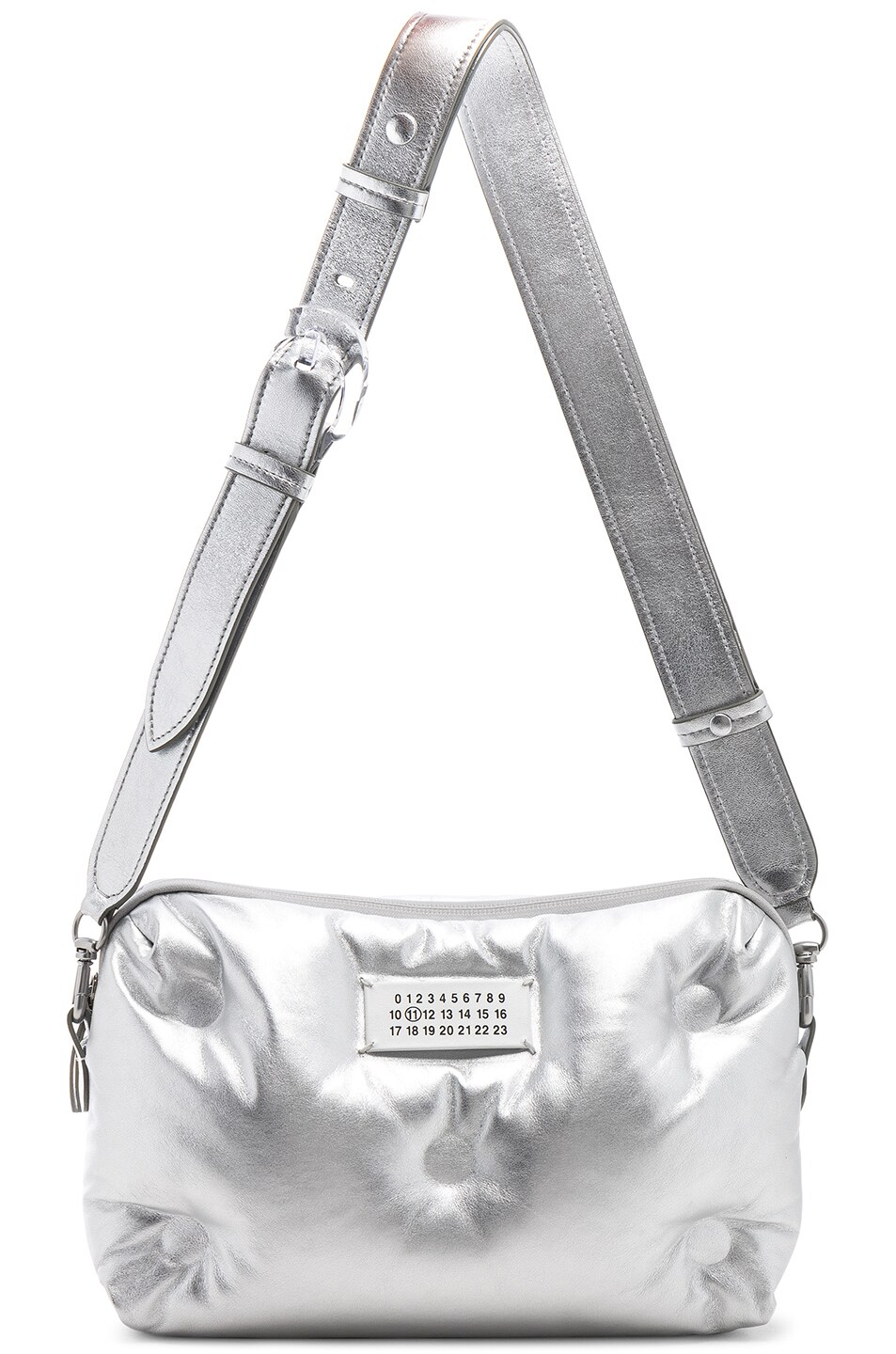 Image 6 of Maison Margiela Number Crossbody Bag in Silver