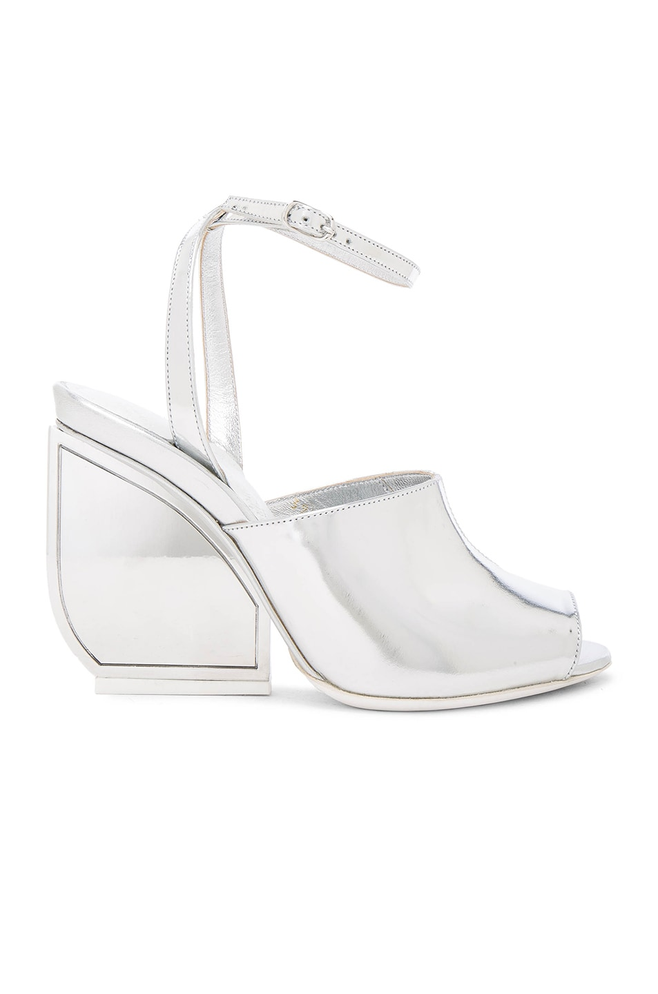 Image 1 of Maison Margiela Mirror Leather Heels in Silver