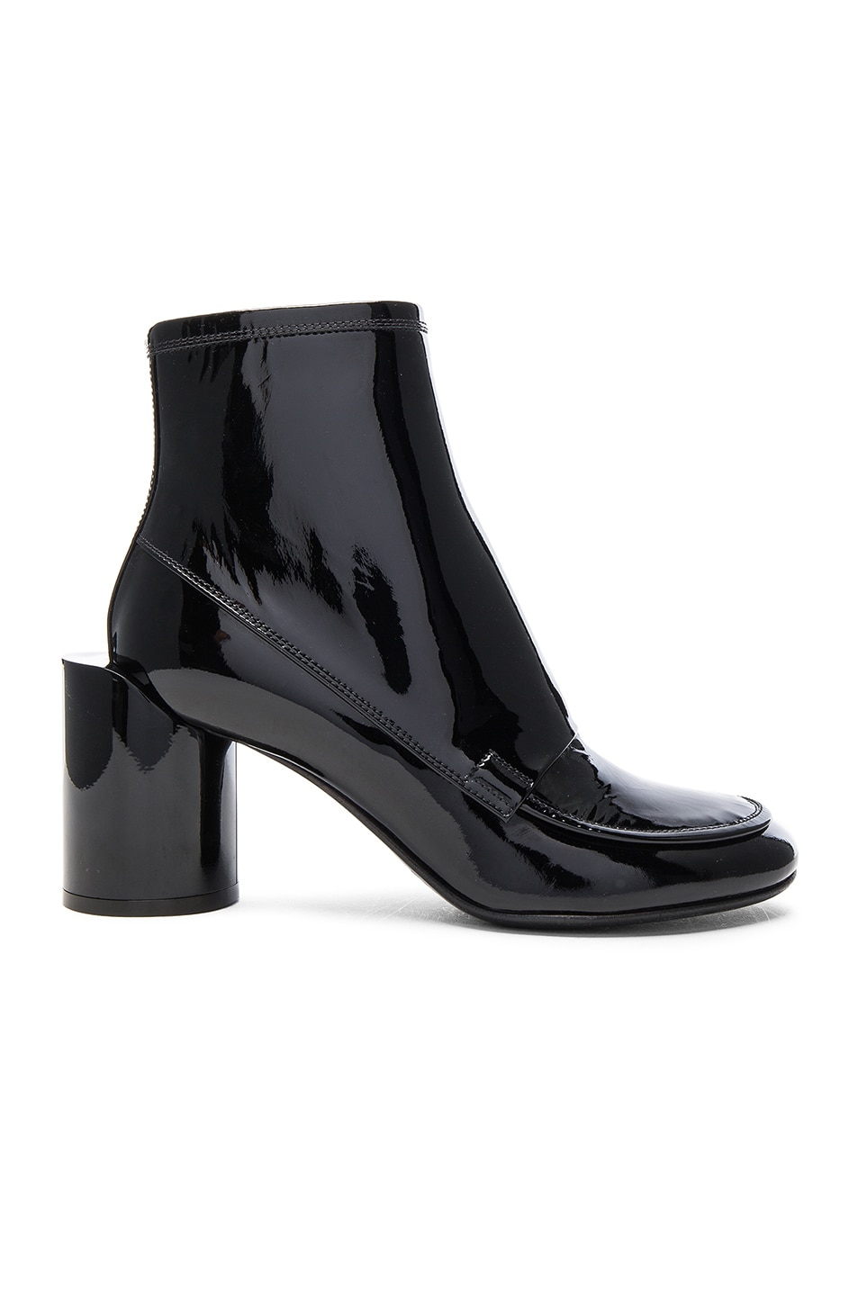 Image 1 of Maison Margiela Patent Leather Booties in Black