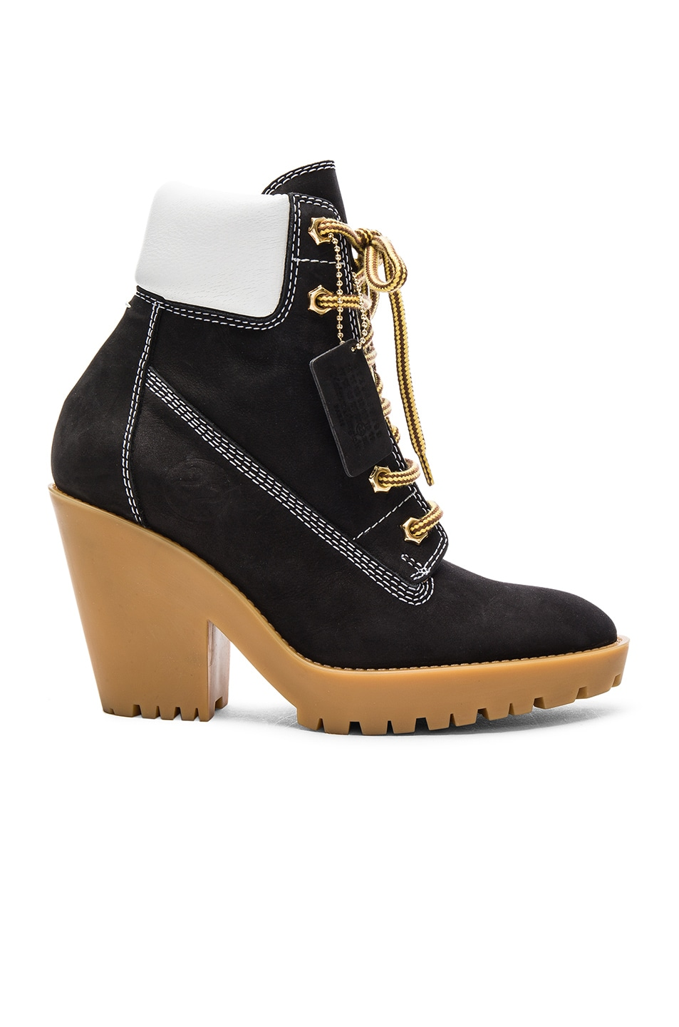Image 1 of Maison Margiela Lace Up Suede Booties in Black