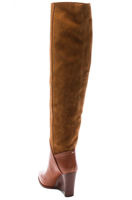 Image 3 of Maison Margiela Leather & Suede Boots in Papaya