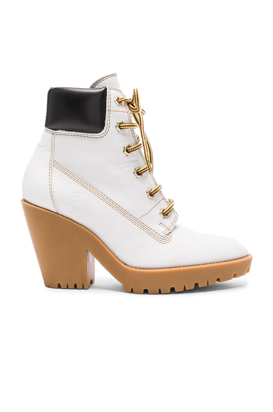 Image 1 of Maison Margiela Leather Lace Up Booties in White