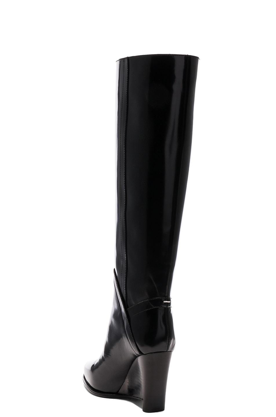 Image 3 of Maison Margiela Leather Boots in Black