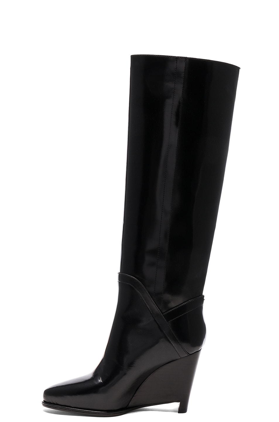Image 5 of Maison Margiela Leather Boots in Black