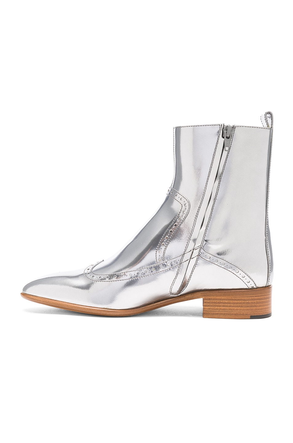 Image 5 of Maison Margiela Leather Ankle Boots in Silver