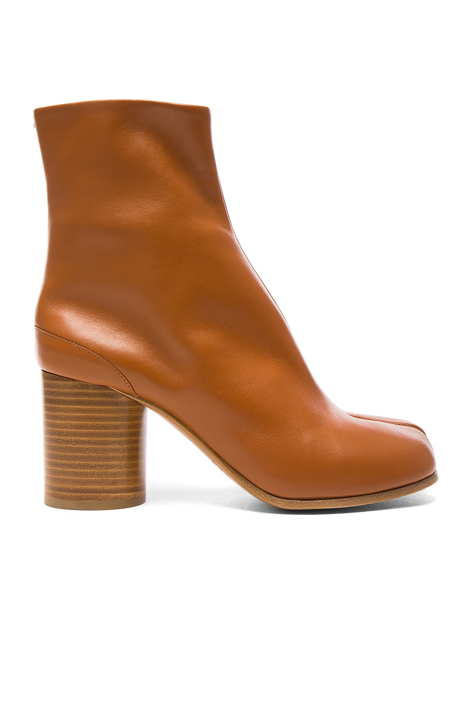 Image 1 of Maison Margiela Leather Split Toe Booties in Brown