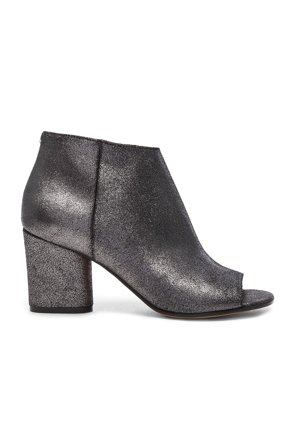Image 1 of Maison Margiela Open Toe Booties in Black Metallic