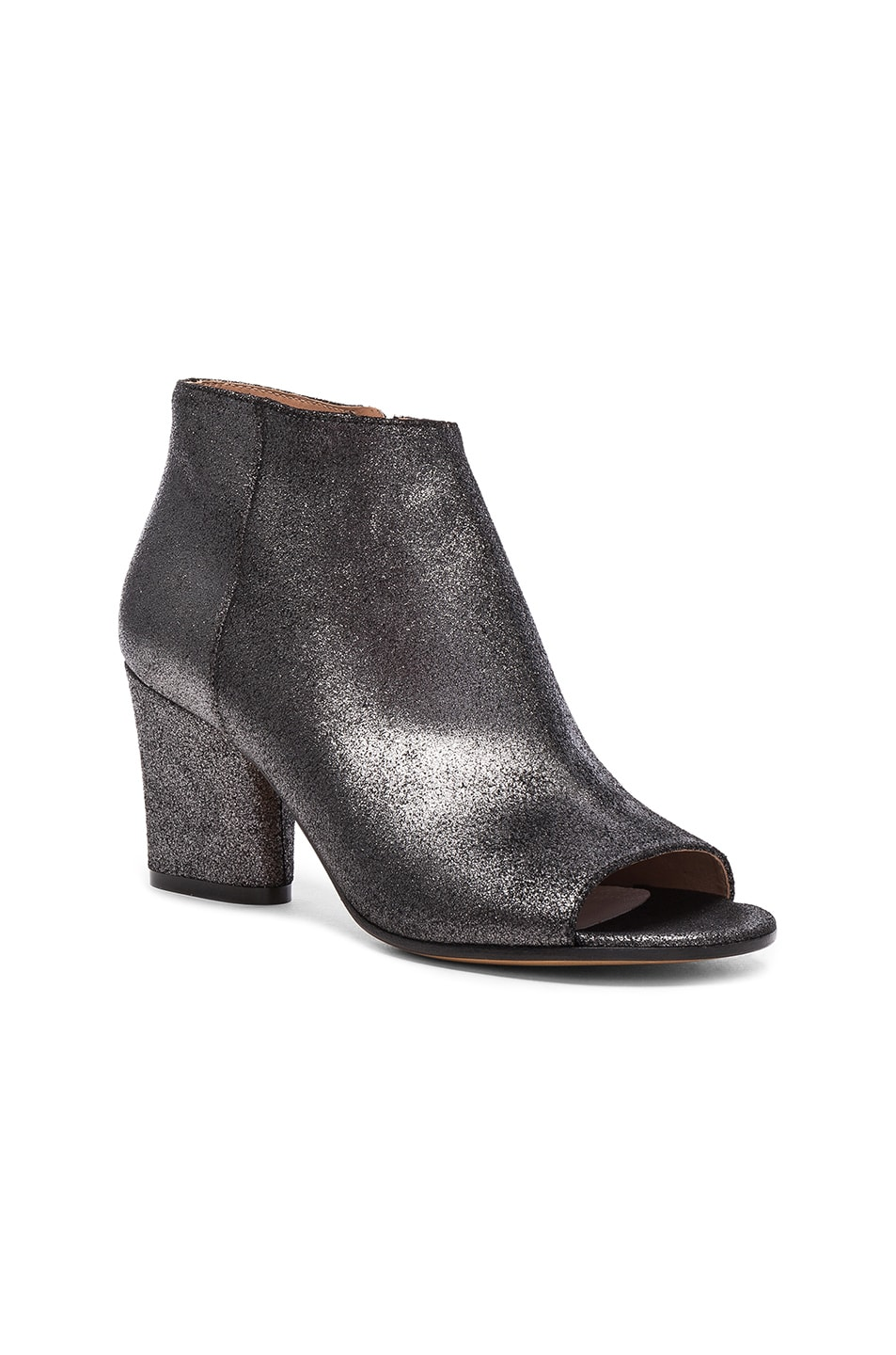 Image 2 of Maison Margiela Open Toe Booties in Black Metallic