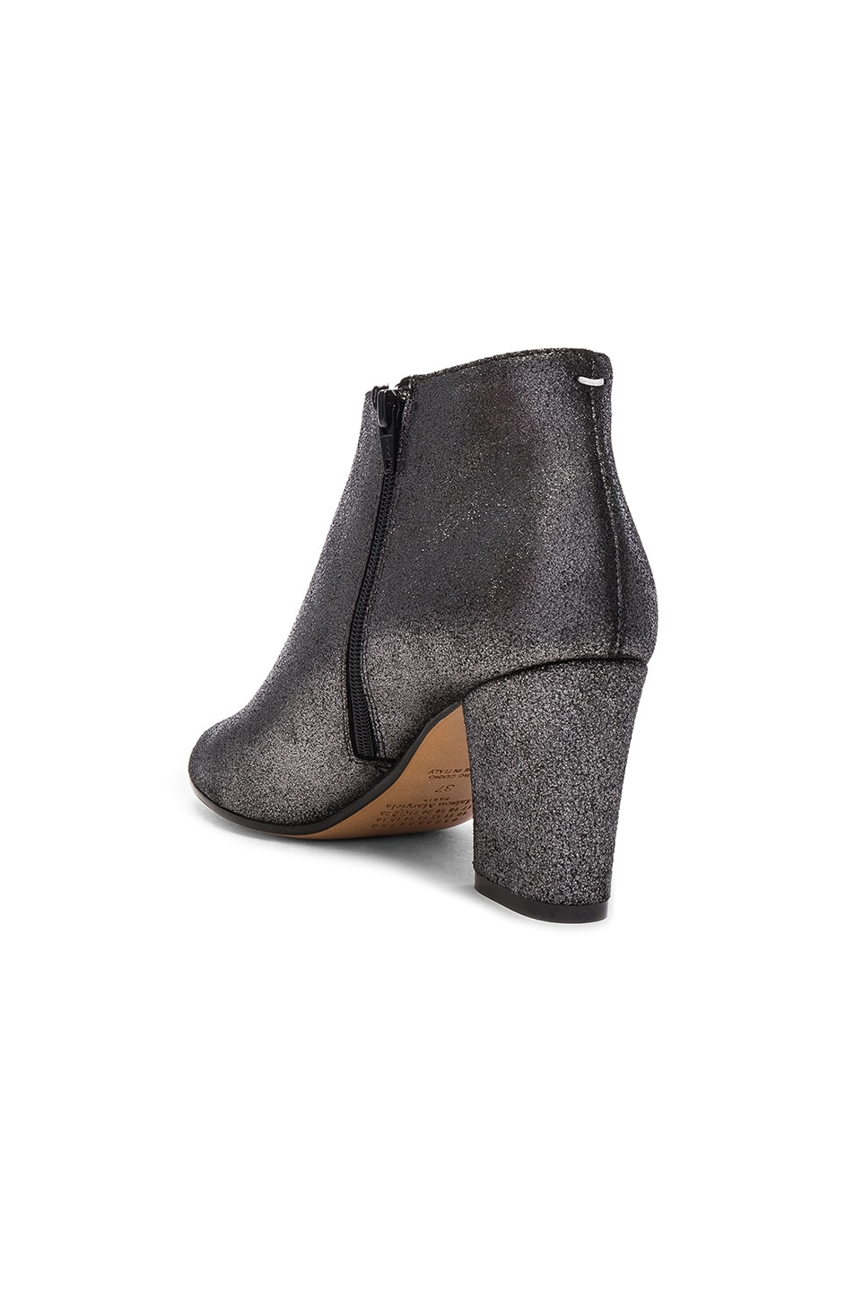 Image 3 of Maison Margiela Open Toe Booties in Black Metallic