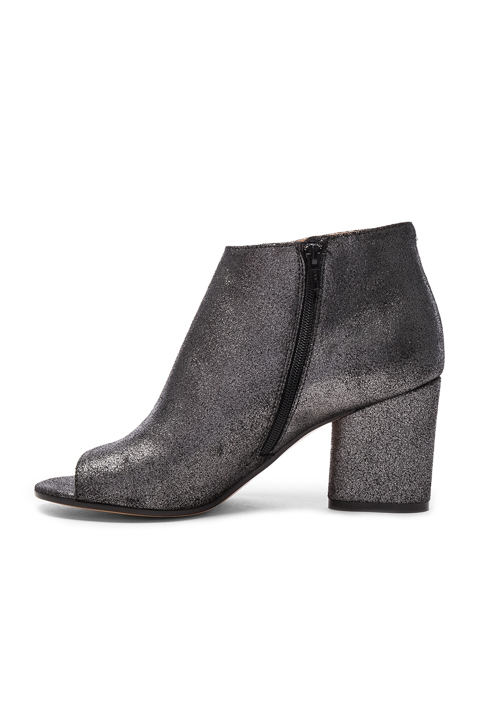 Image 5 of Maison Margiela Open Toe Booties in Black Metallic