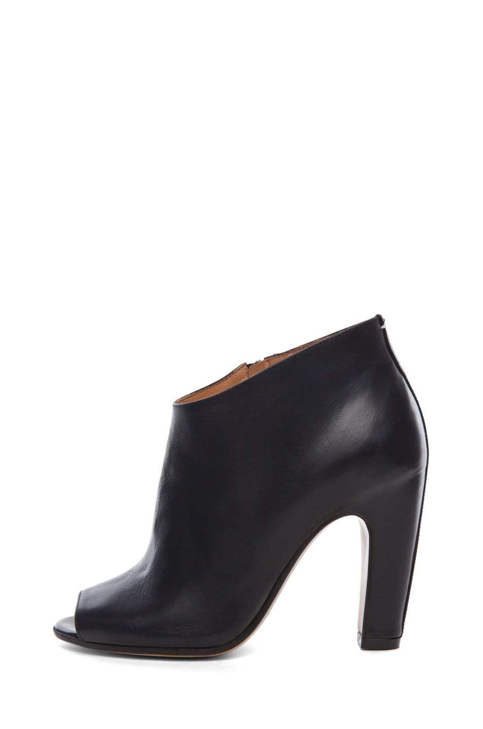 Image 1 of Maison Margiela Leather Open Toe Booties in Black