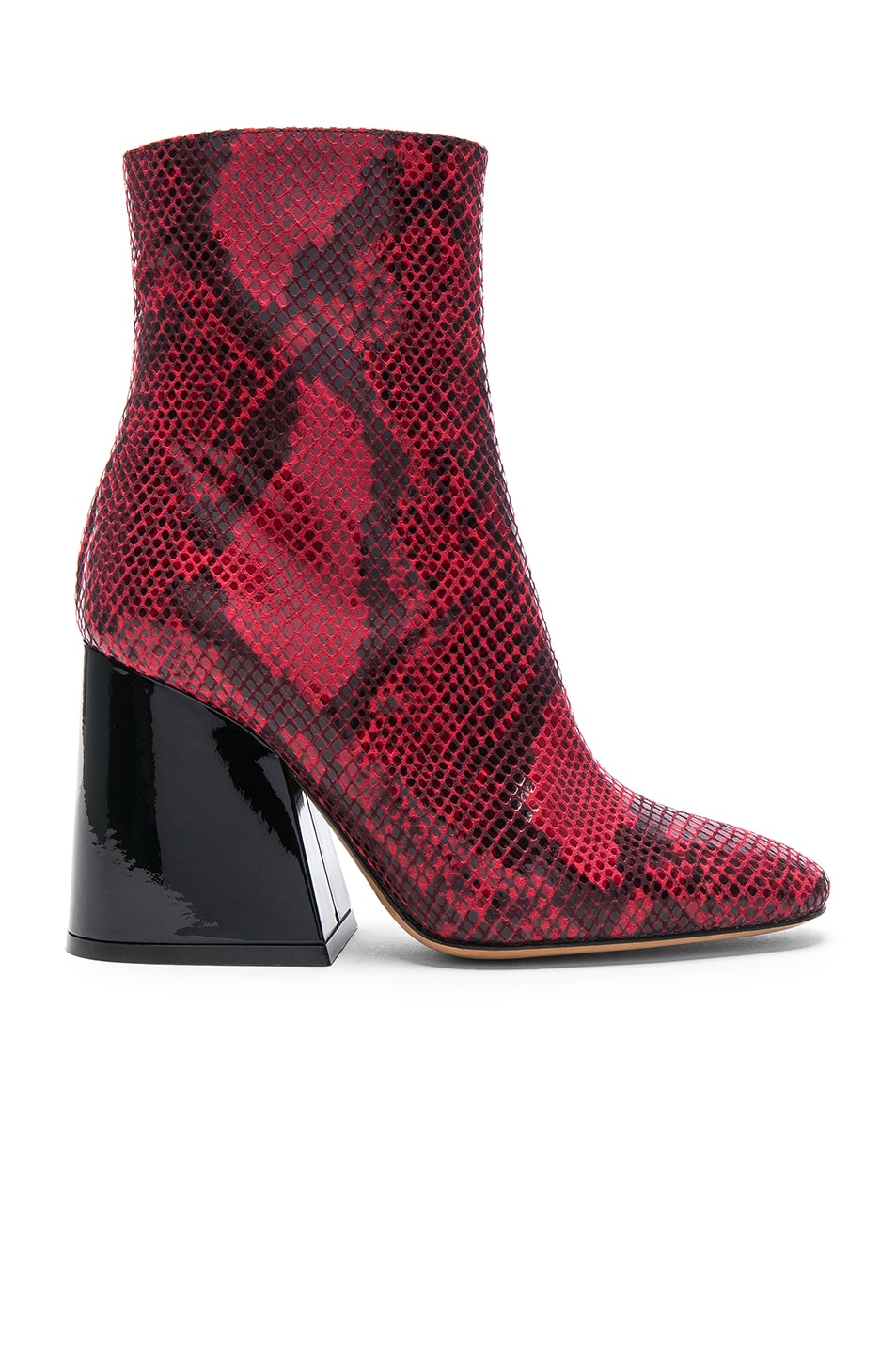 Image 1 of Maison Margiela Block Heel Boot in Python Red