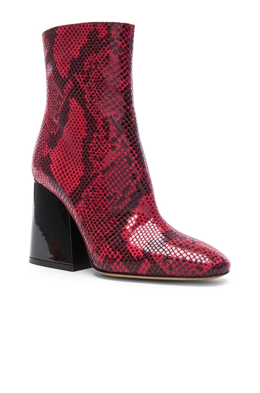 Image 2 of Maison Margiela Block Heel Boot in Python Red