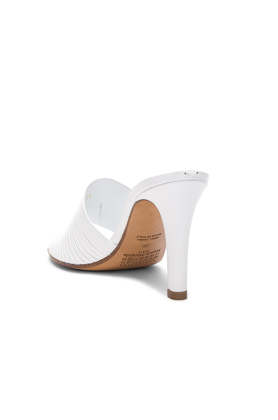 Image 3 of Maison Margiela Leather Heels in White