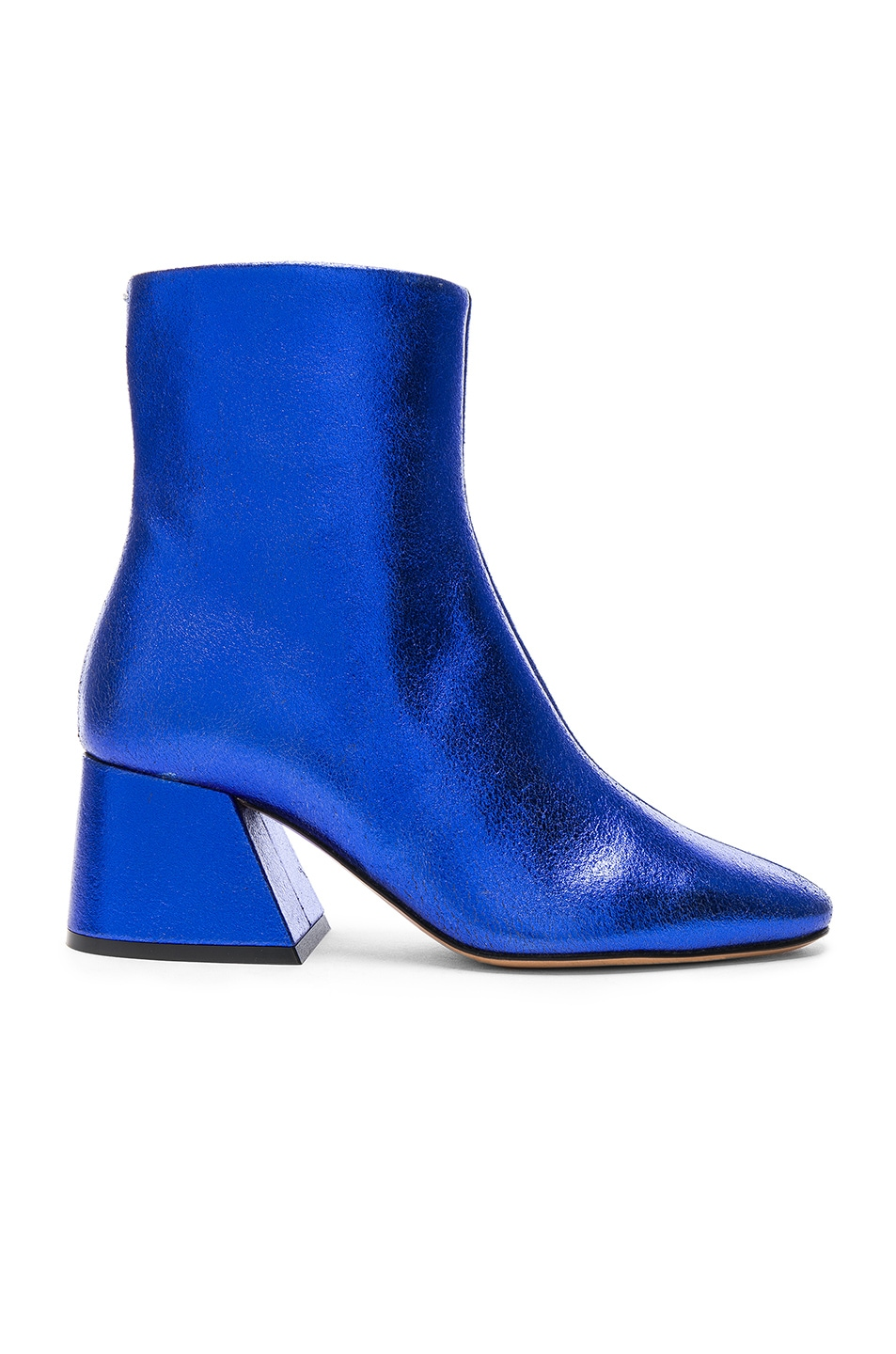 Image 1 of Maison Margiela Laminated Leather Chunky Heel Boots in Cobalt