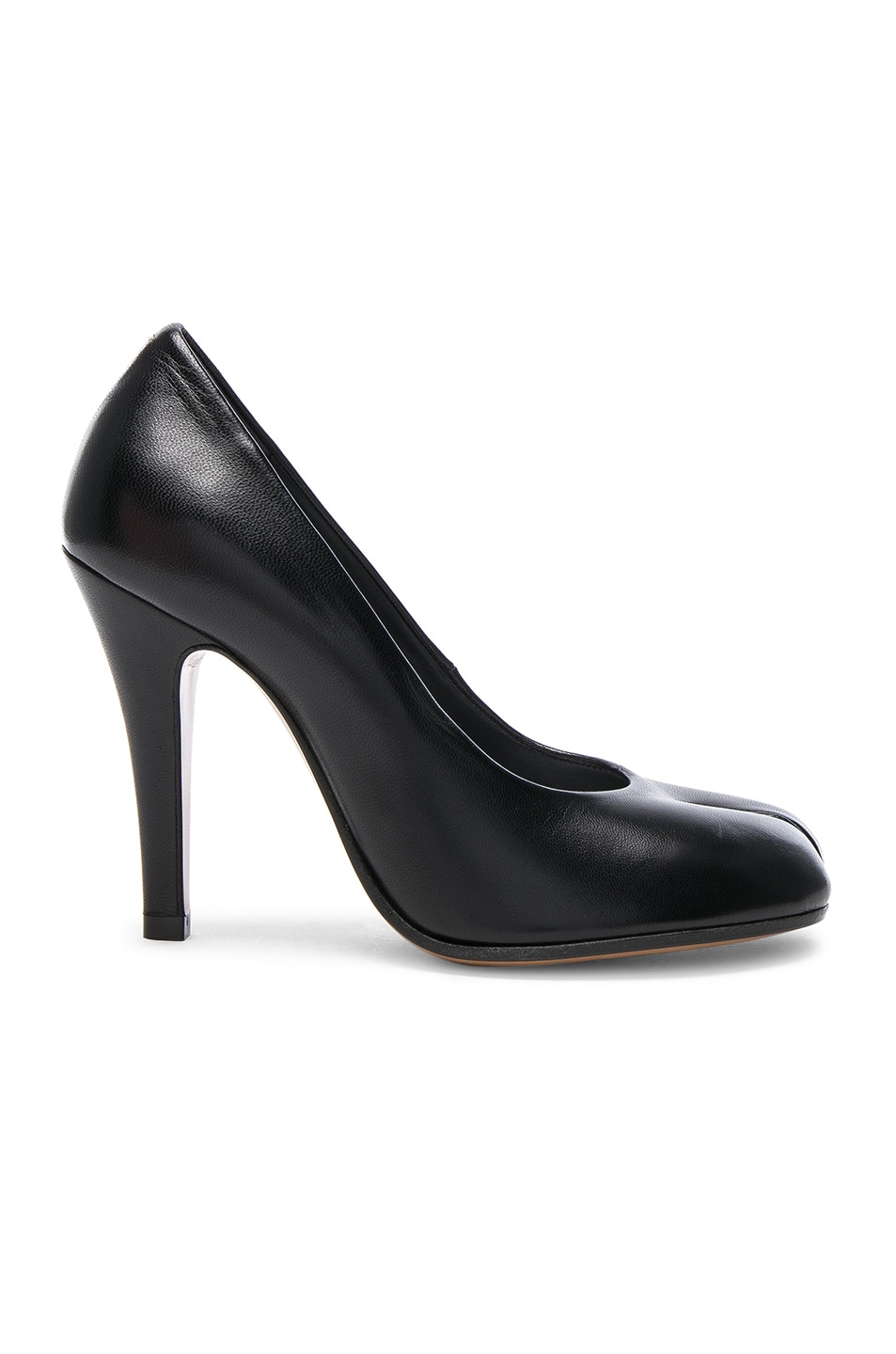 Image 1 of Maison Margiela Leather Tabi Heels in Black