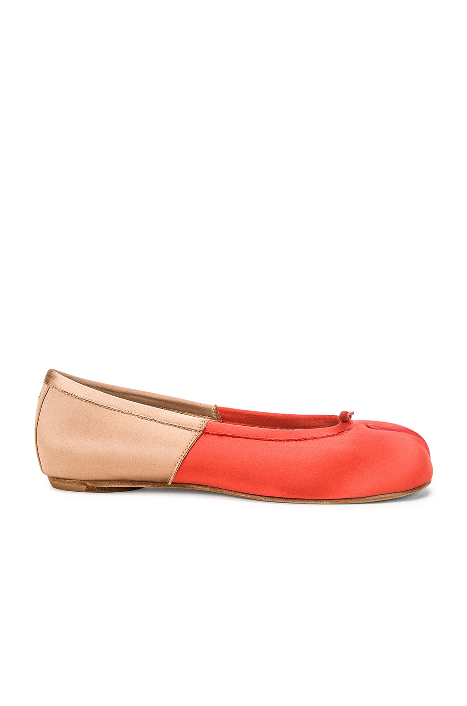 Image 1 of Maison Margiela Colorblock Ballerina Flat in Coral & Light Pink