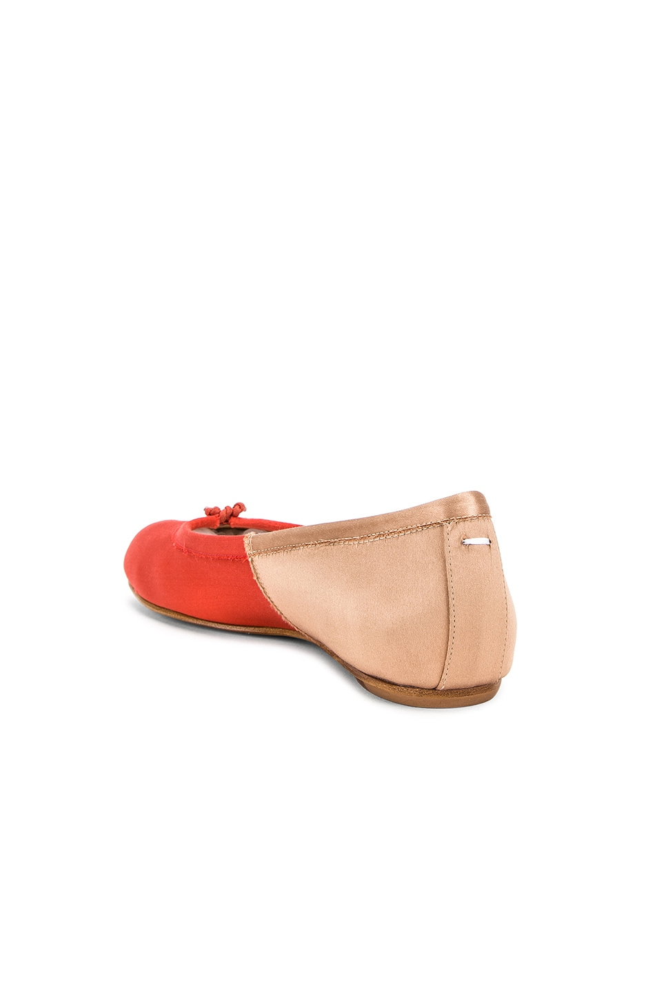 Image 3 of Maison Margiela Colorblock Ballerina Flat in Coral & Light Pink