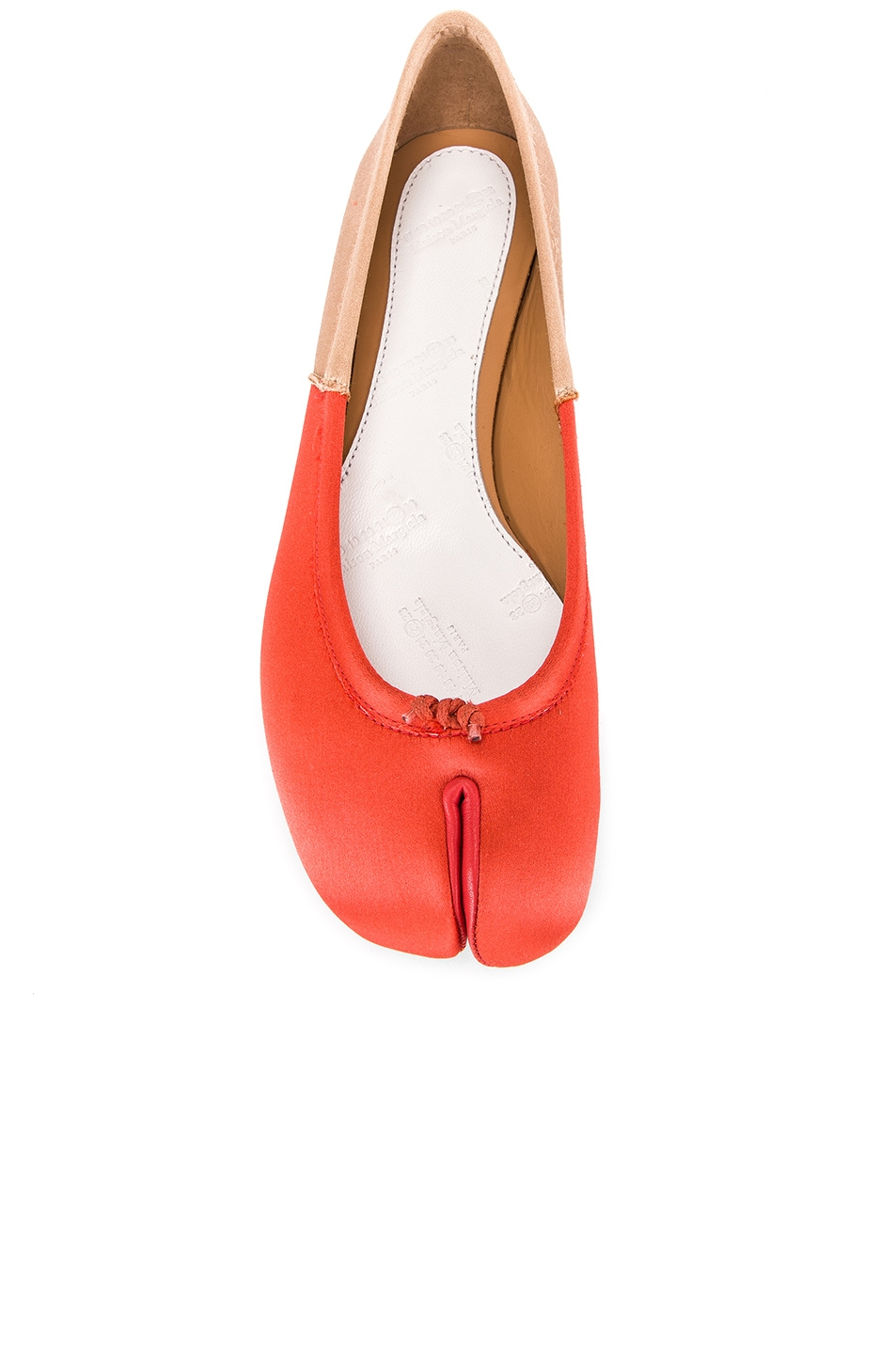 Image 4 of Maison Margiela Colorblock Ballerina Flat in Coral & Light Pink