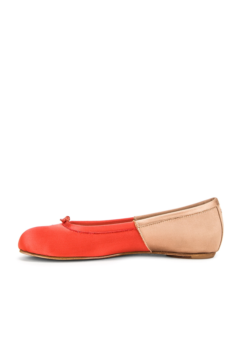 Image 5 of Maison Margiela Colorblock Ballerina Flat in Coral & Light Pink