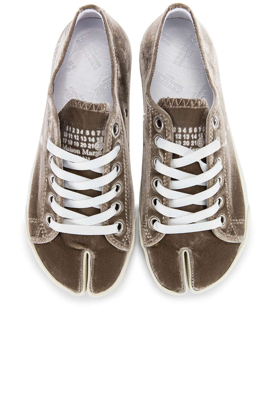 Image 1 of Maison Margiela Toe Lace Up Sneakers in Champagne Beige