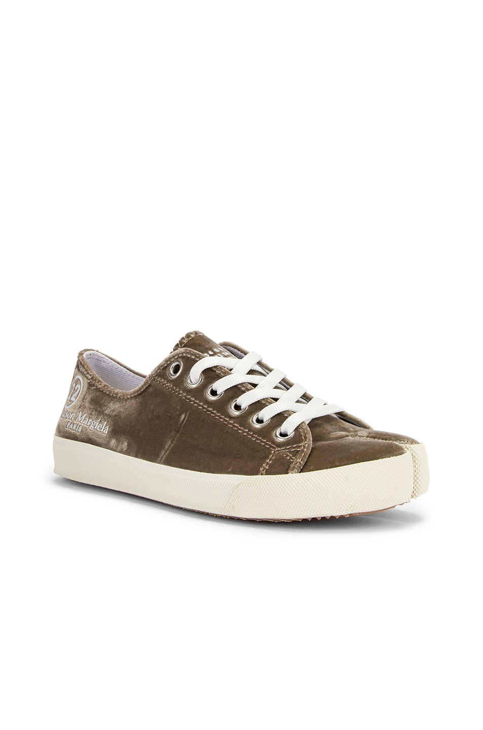 Image 3 of Maison Margiela Toe Lace Up Sneakers in Champagne Beige