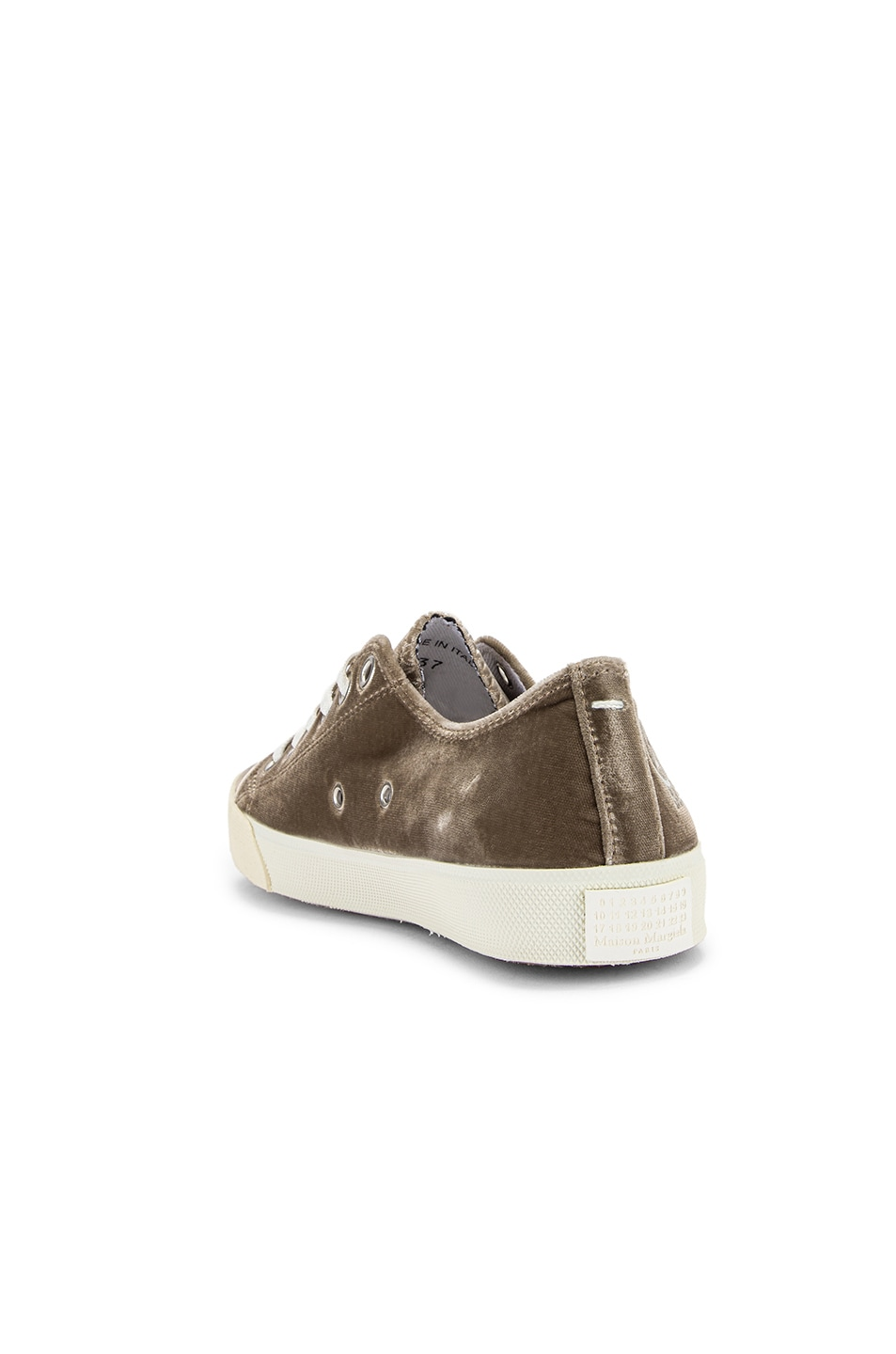 Image 4 of Maison Margiela Toe Lace Up Sneakers in Champagne Beige