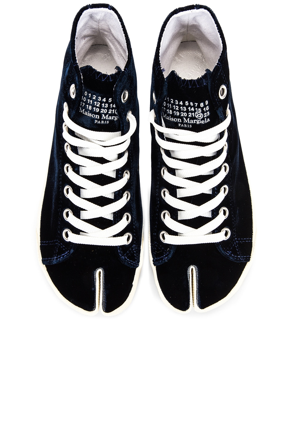 Image 1 of Maison Margiela Toe High Top Sneakers in Navy Blue