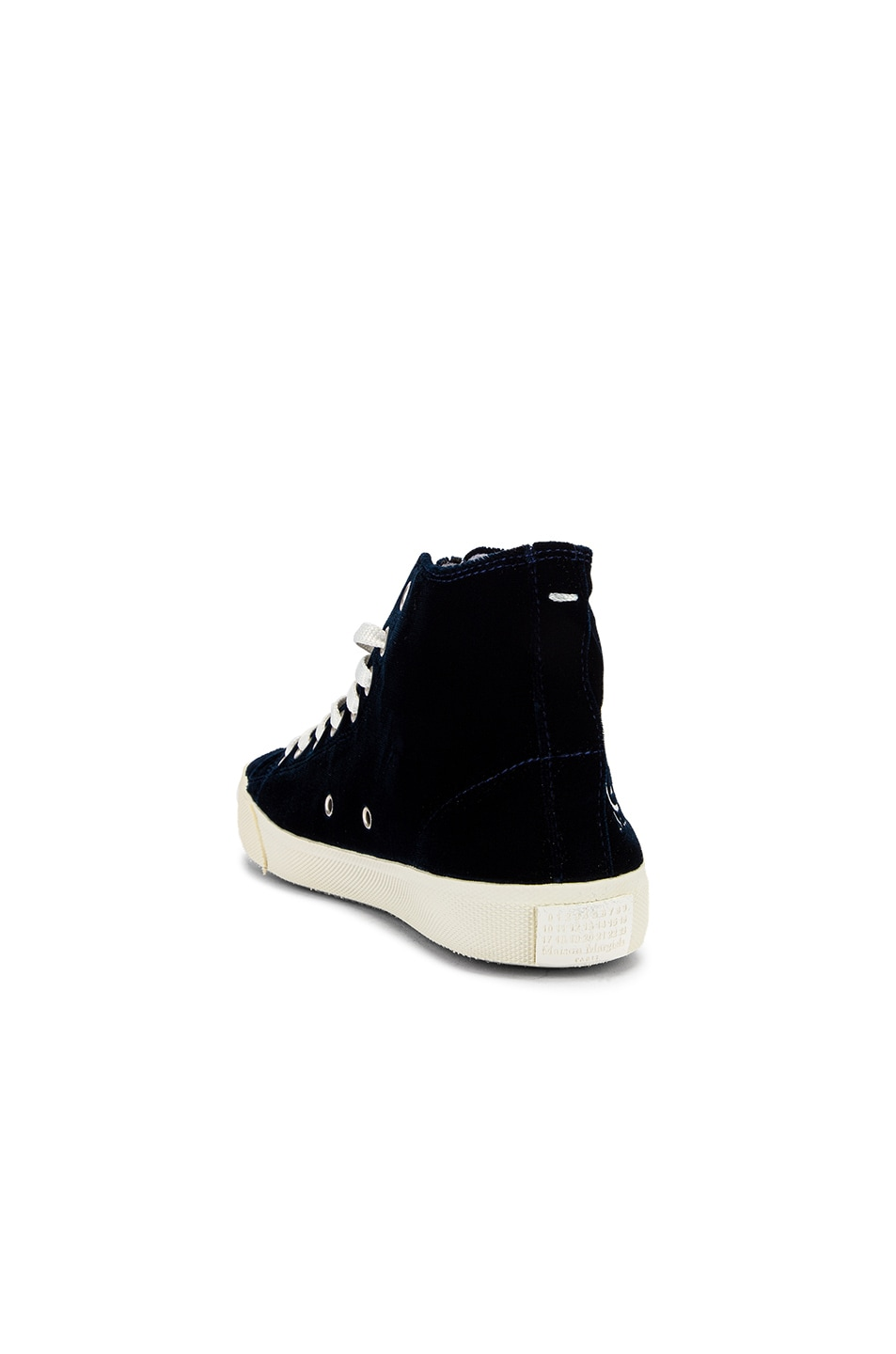 Image 4 of Maison Margiela Toe High Top Sneakers in Navy Blue