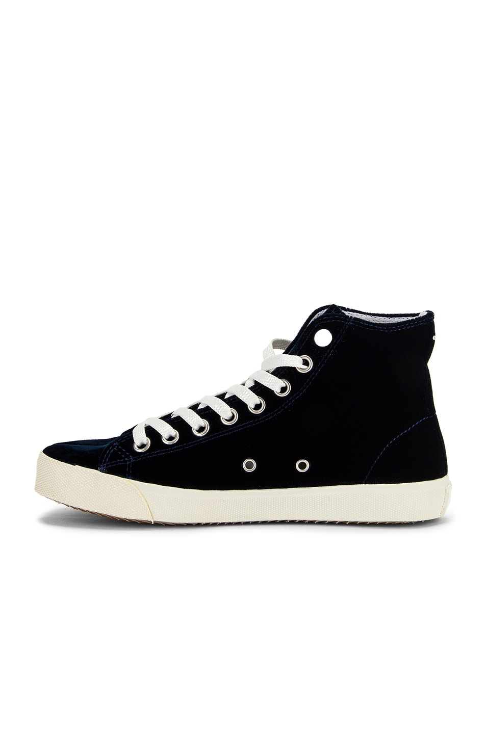 Image 5 of Maison Margiela Toe High Top Sneakers in Navy Blue