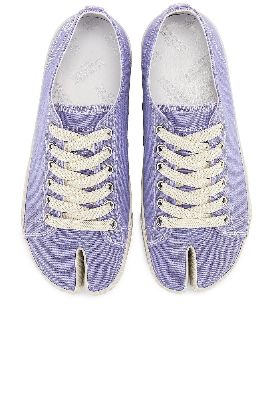 Image 1 of Maison Margiela Tabi Low Top Canvas Sneakers in Thistle