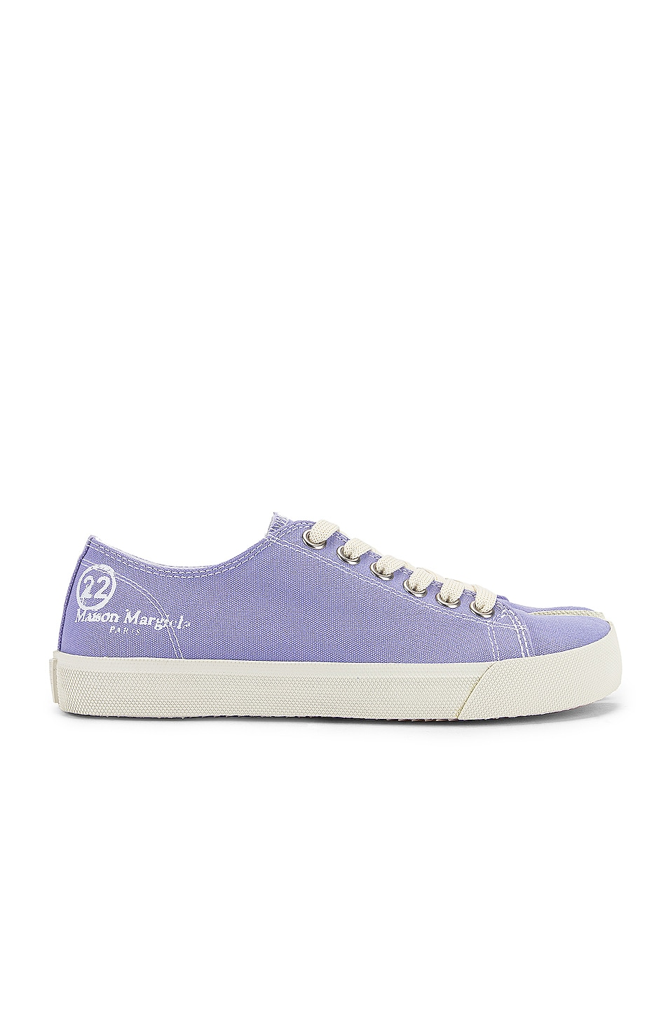 Image 2 of Maison Margiela Tabi Low Top Canvas Sneakers in Thistle