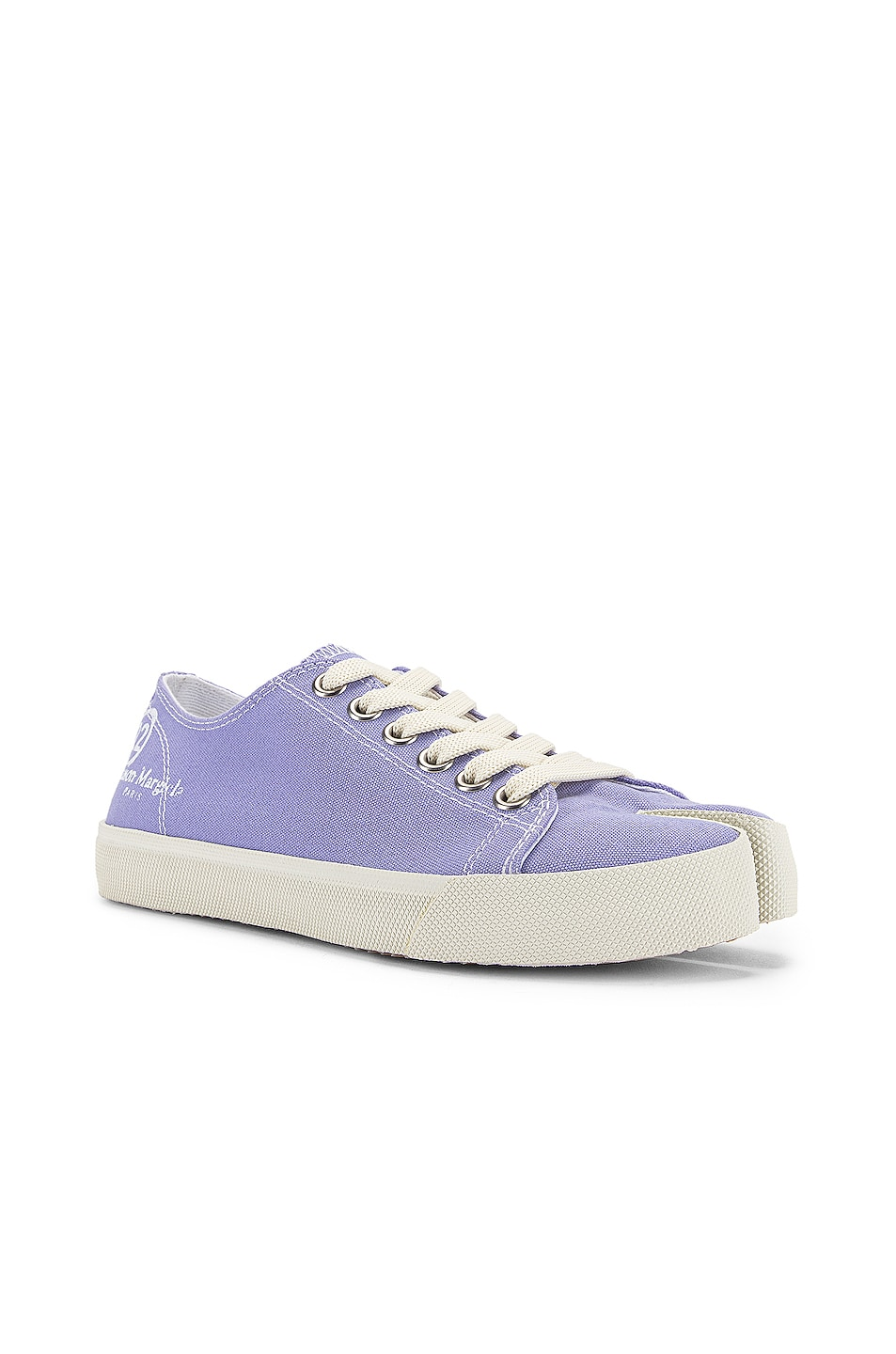 Image 3 of Maison Margiela Tabi Low Top Canvas Sneakers in Thistle
